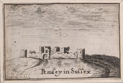 View of Pevensey Castle 58 c